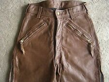 Langlitz Leathers Motorcycle Pants Brown Goatskin USA made Kids