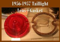 Corvette 1956 1957 Taillight Lens  Red Tail light plastic light Cork Gasket Set