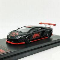 Time Model 1:64 Lamborghini Aventador LP700-4 Redbull Racing Diecast Model Car