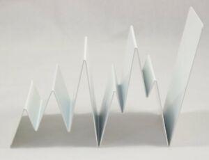 Modern Minimal White Coated Metal ZigZag Letter Rack