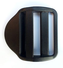 "Nexus Ladderlock Buckle 50mm (2"") Set of Four Black Plastic Webbing (LL50)"