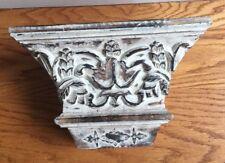 "Hand Carved Wooden Corbel Wall Shelf Cream 13"" x 6"" x 8"""