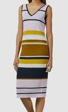 NEW $485 Ted Baker London Size 0 Women Pink White Sleeveless Sheath Dress US 00