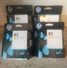 4    HP C4913A #82 Yellow High Yield Ink 69ml Genuine OEM Retail Box Quick Ship