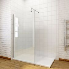 1700x700mm Tray + 1200mm  Wetroom Glass Walk In Shower Door + Free Waste