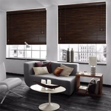 WALNUT PREMIER WOODEN VENETIAN BLINDS CAN BE CUT TO SIZE
