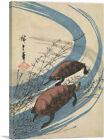 ARTCANVAS Two Turtles Canvas Art Print by Utagawa Hiroshige