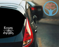 Raising Tiny Disciples Christian Kids Decal Baby On Board Family Car Decal