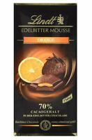 Lindt Edelbitter Mousse Orange Schokolade 150 g - Chocolate from Switzerland