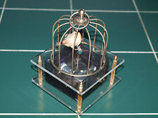 Rare Vintage Music Box Automaton Bird Dancing in a cage from the 70's - gorgeous