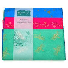 Commercio equo carta Lokta tre fogli regalo Wrap Pack gwp73