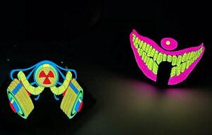 LED Light Up Rave Luminous Flash Dance Party Face Mask Sound Activated Free Batt