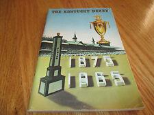 KENTUCKY DERBY 1875-1965 Media Guide Book Lucky Debonair JOCKEY Bill Shoemaker