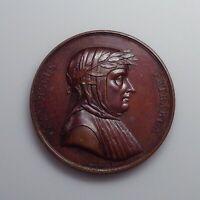 1819 France - Francesco Petrarch Commemorative Medal by Jeuffroy.