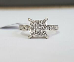 18ct White Gold Diamond Ring 0.50cts