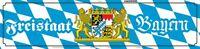 Freistaat Bayern Wappen Straßenschild Blechschild gewölbt Street Sign 10 x 46 cm