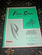 SHEET MUSIC-FLUTE SOLOIST WITH PIANO ACCOMPANIMENT STUDENT COURSE ELEMENTARY