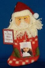 Santa in Stocking Photo Frame Ornament NWT Christmas Holiday Gift Free Ship U S