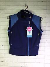 Romfh Womens Size XS 0 Blue Sport Vest Mesh Inserts Sleeveless Equestrian Shirt