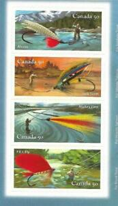 2005 Canada Post #2088a-d 📭 Fishing Flies All 4 Issues 📬🎣🐟 4 MNH Singles