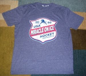VINTAGE-Style TEAM USA HOCKEY Throwback 1980 Throwback MIRACLE ON ICE Shirt L