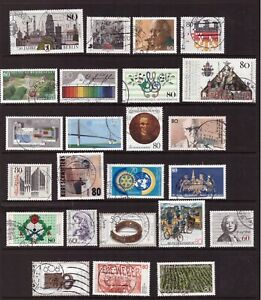 Germany 1987 used stamps selection