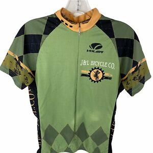 Voler Race Raglan Green Short Sleeve Cycling Jersey- Womens Size Medium