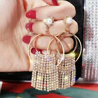 Geometric Luxury Crystal Drop Dangle Earrings Womens Jewellery Party Gift Hot