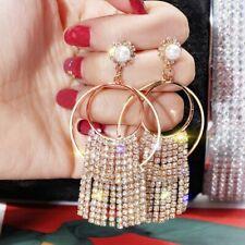 Geometric Luxury Crystal Drop Dangle Earrings Womens Jewellery Party Gift Hot