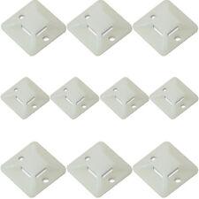 10x-Câble en plastique neutre cravate bases -19 x4mm-sticky back Adhésif clips de montage