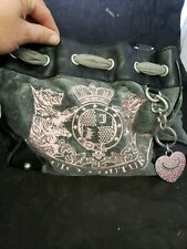 Authentic gray pink soft Juicy Couture Purse handbag pocket book (a7)