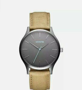 MVMT Watches 40 Series Genmetal Sandstone 40MM Leather Band Men's Watch ORIGINAL