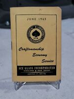 VINTAGE 1962 ACE GLASS CHEMICAL LABORATORY GLASSWARE JUNE PLANNER ADVERTISING