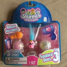 Squinkie Doos Series # 3 Set Includes 3 Pets Brush and Containers Blip Toys 2010