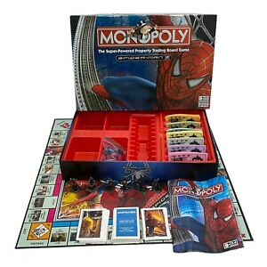 Spiderman Monopoly Super-Powered Property Game Collectors Edition - *COMPLETE*
