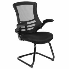 Flash Furniture Mesh Sled Office Side Chair in Black
