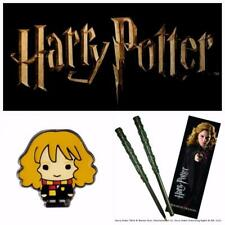 Noble Collection Official Genuine Harry Hermione Potter Wand Pen, Bookmark & Pin