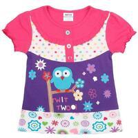 Toddlers girls printed beautiful short sleeved t-shirt 18-24m 2-3Y 3-4Y 4-5Y 5-6