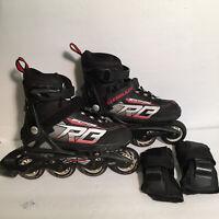 Rollerblade Youth Spitfire XT Adjustable Inline Skates Black/Red Size 2-5 Kids