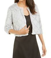 Siganture by Robbie Bee Women's Gray Size Small PS Petite Bolero Shrug $39 #004