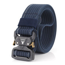 "1.5"" Military Style Nylon Webbing Belt Quick Release Buckle Duty Riggers Belts"
