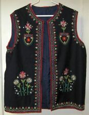 POLISH EMBROIDERED VEST Poland Folk Highland Traditional National Costume Goral