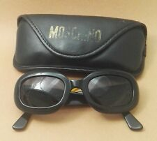 Moschino Sunglasses Black Plastic Oval Shaped with Case