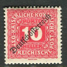 AUSTRIA;  1919 DEUTSCHOSTERREICH early Postage Due issue Mint hinged 10h.