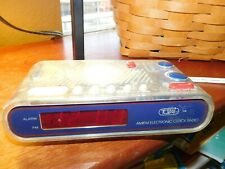 90S SEE THROUGH DESK CLOCK DIGITAL RED NUMBERS TOZAI 2233T NO CONTRABAND SHELF