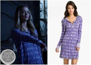 ASO Alison DiLaurentis Pretty Little Liars Munki Munki Hooded Henley Sleep Shirt