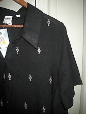 Target Plus 22 Chic Black White Sheer Overlay Polyester Cotton Lined Shirt