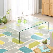 Geo-Glass Clear Rectangular Coffee Table - Modern Living Lamp - BRAND NEW GG94