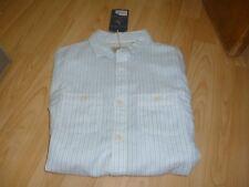 Mens Jack Wills Hurrell Linen LS striped shirt size X Small.36 chest...New