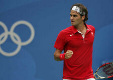 Roger Federer 10 x 8 UNSIGNED photo - P1255 - The Olympics